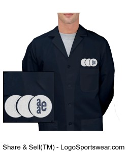 Mens Lab Coat - Navy Design Zoom