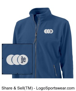 Mens Boundary Fleece Jacket by Charles River Apparel Design Zoom