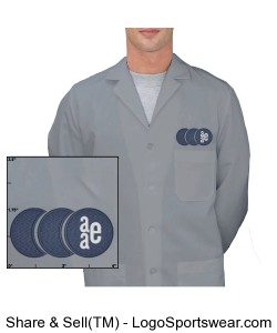 Mens Lab Coat - Light Grey Design Zoom