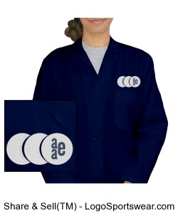 Womens Knee Length Lab Coat Design Zoom