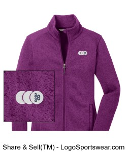 Womens Sweater Fleece Jacket by Port Authority Design Zoom