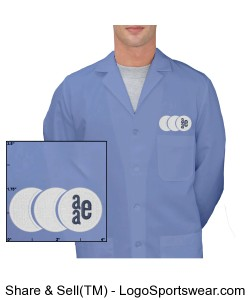 Mens Lab Coat - Light Blue Design Zoom