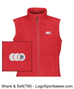 Womens Eclipse Fleece Vest Design Zoom