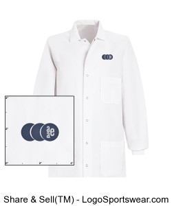 Unisex Cuffed Lab Coat by Red Kap Design Zoom